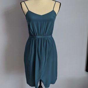 Madewell Silk Tulip Hem Sheath Dress Size 0
